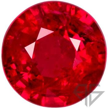 super rich red ruby loose gemstone in round shape, great