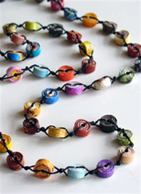 Paper Jewellery Materials - collecting vintage and contemporary jewelry recycled