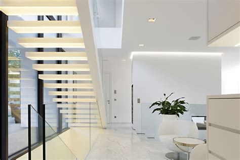 house m by monovolume architecture design stairs marble tiles house m in meran italy by