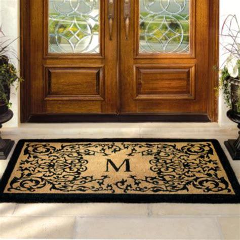 Frontgate Doormats - courtyard coco monogrammed door mat frontgate