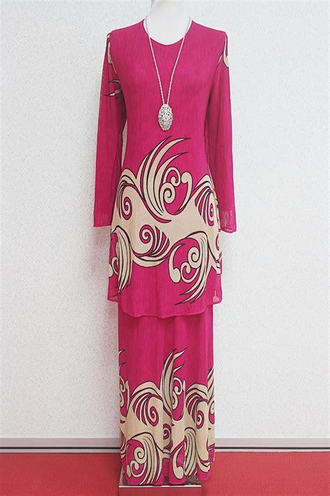 Baju Melayu kurung moden delfina pink baju kurung empire