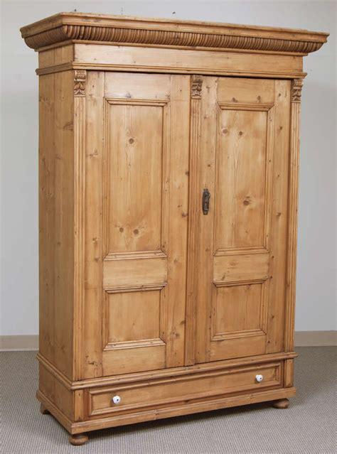 Pine Armoire Wardrobe by Pine Armoire At 1stdibs