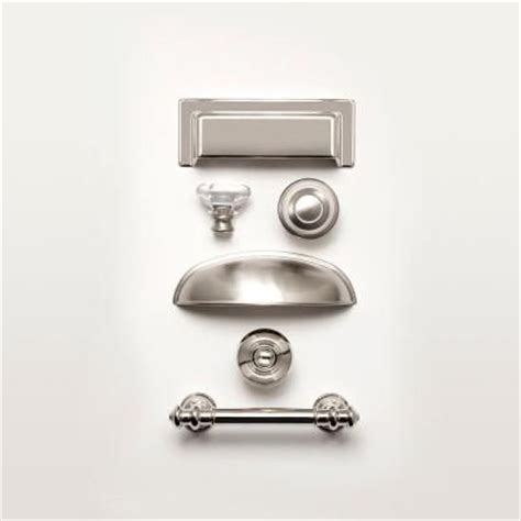 home depot kitchen cabinet hardware martha stewart living 3 in 76mm polished nickel finial