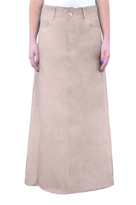 khaki skirt s a line in colors