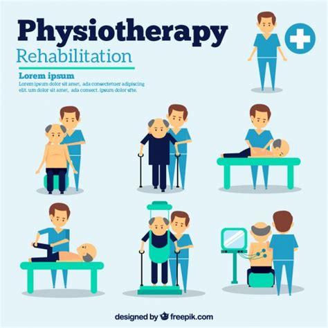 imagenes feliz dia fisioterapeuta situaciones de fisioterapia descargar vectores gratis