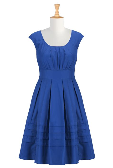 Royale Bebe Cloth royal blue casual dress in style 2016 2017 fashion gossip