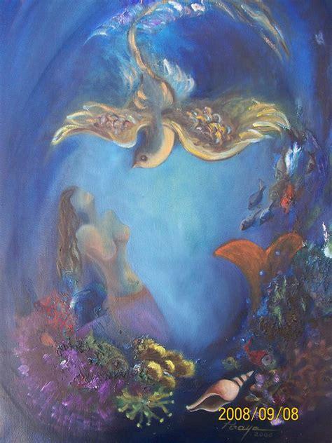Deniz Kizi 5 Painting By Piraye Yutek