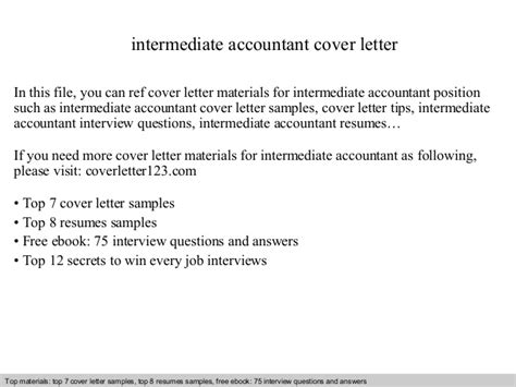 Intermediate Accountant Cover Letter intermediate accountant cover letter