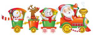 transparent christmas santa train png clipart gallery