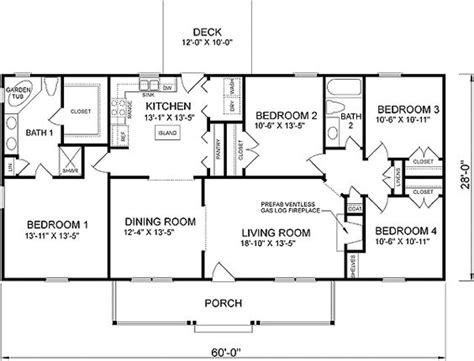 simple four bedroom house plans plan 46022hc craftsman home with master sitting room house plans 4 bedroom house