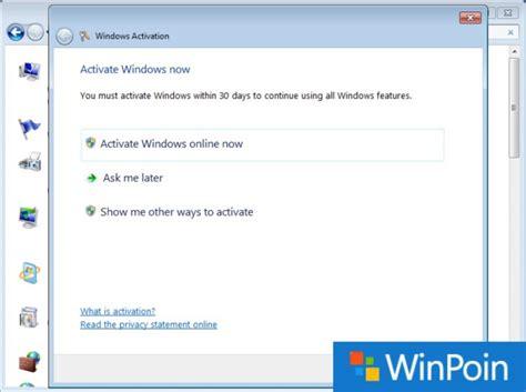 cara aktivasi tutorial online ut tutorial lengkap cara aktivasi windows 7 permanen winpoin