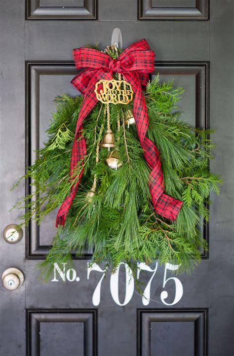 evergreen holiday door swag christmas door decorations