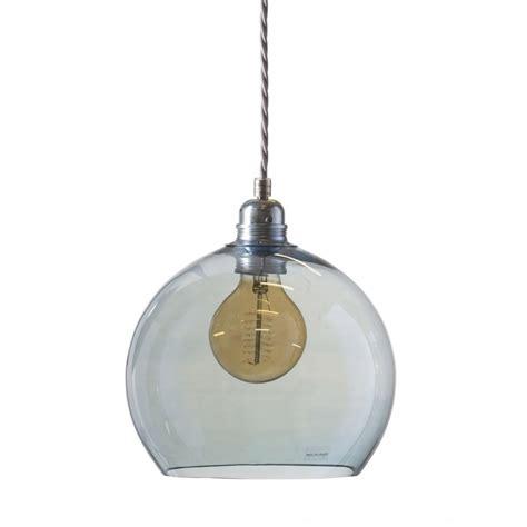 blue glass pendant light rowan topaz blue glass globe ceiling pendant light long