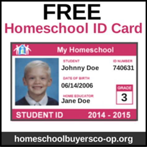 homeschool id template how to make student id cards free printable paradise