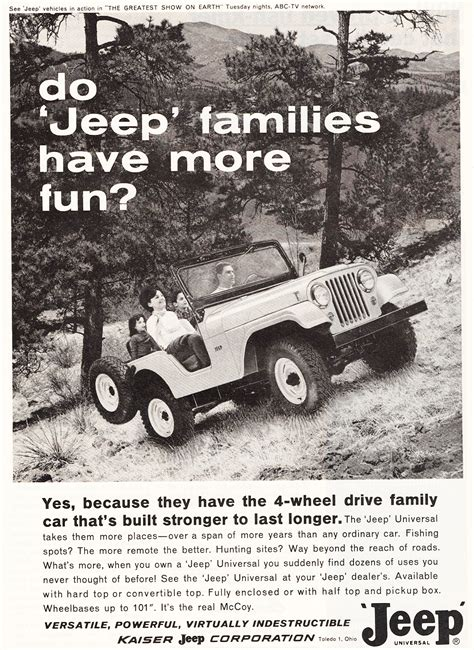 vintage jeep ad 1964 jeep cj 5 ad cars today