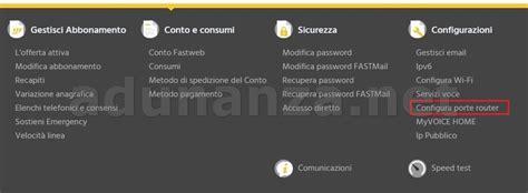 come aprire le porte router fastweb come aprire le porte di un hag router sulla myfastpage
