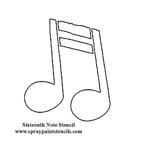musical notes template free stencils