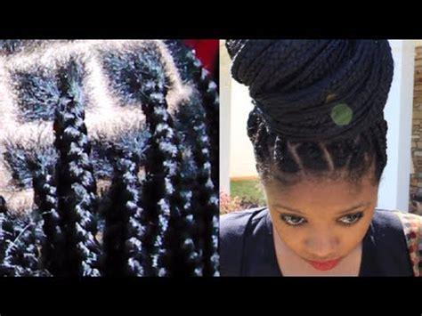 2014 healthy no knots box braids on short hair, no