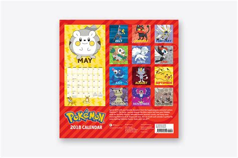 Barnes And Noble Event Calendar Pok 233 Mon 2018 Wall Calendar Wall Abrams