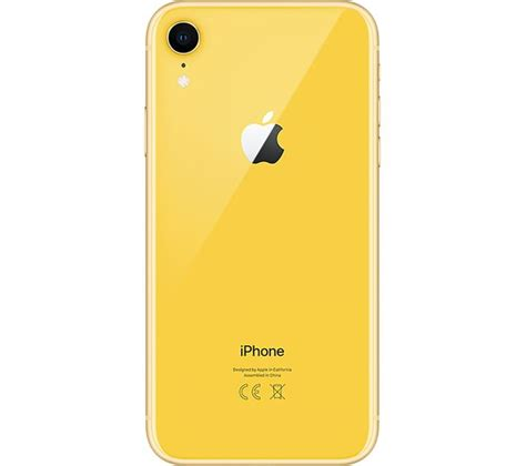 buy apple iphone xr 128 gb yellow free delivery currys