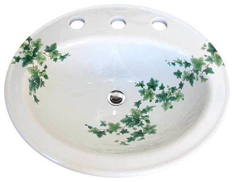 hand painted sinks floral designs traditional