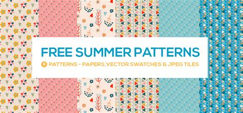 illustrator pattern move tile with art free summer patterns vector swatches illustrator swatch