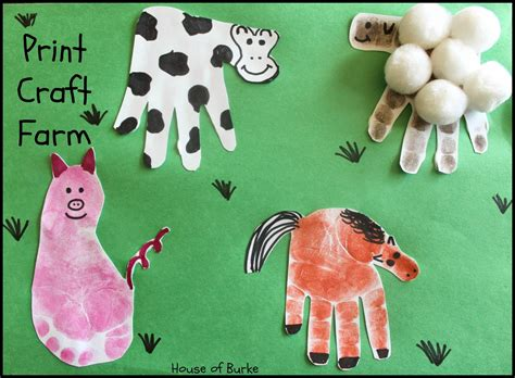 farm animals crafts for house of burke print craft farm
