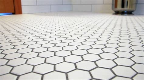 Ideas For Tiling Bathrooms by White Hexagon Glazed Ceramic Mosaic Floor And Wall Tile