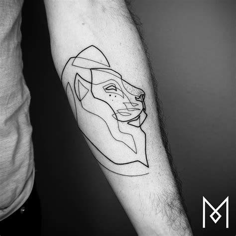 tattoo lines new minimalistic single line tattoos by mo ganji colossal