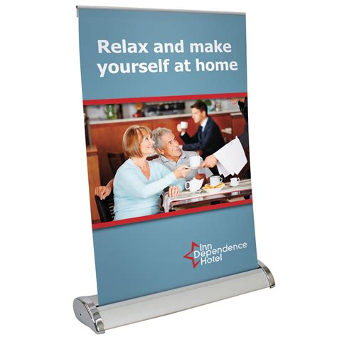 table top poster 11 quot x 17 quot retractable table top banner stand