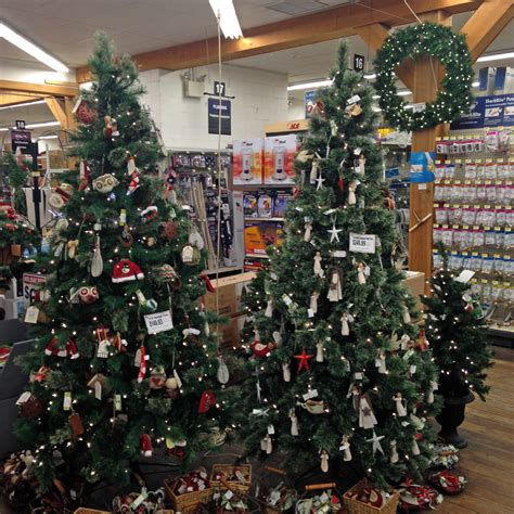 ace hardware xmas decorations christmas trees and decorations weaver s ace hardware