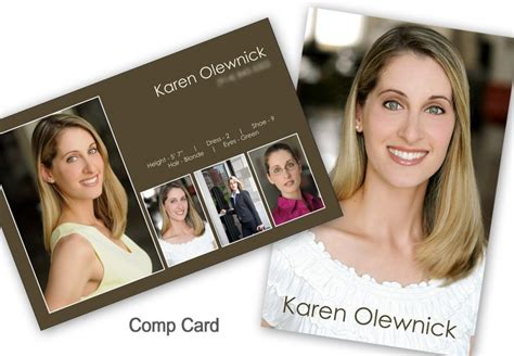 make your own comp card template promo prints mcgreevy prolab propress
