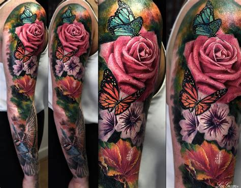 floral tattoo sleeves for men image result for flower sleeve tattoos