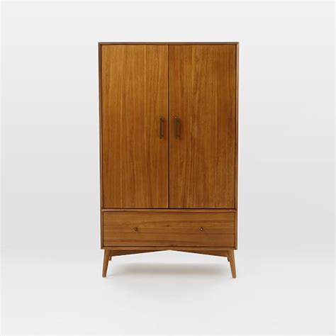 West Elm Patchwork Armoire - west elm armoire mid century wardrobe acorn west elm