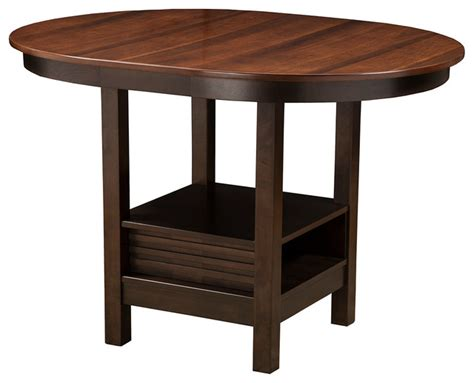 Oval Bistro Table Davenport Oval Pub Table Indoor Pub And Bistro Tables By Alpine Furniture Inc