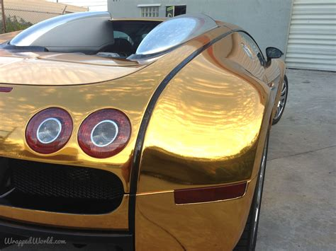 car bugatti gold bugatti veyron gold wrapped for us rapper flo rida
