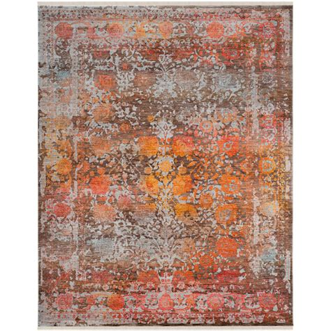 9 X 11 Area Rugs Safavieh Vintage Brown Multi 9 Ft X 11 Ft 7 In Area Rug Vtp409d 9 The Home Depot