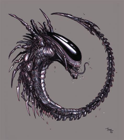 queen xenomorph tattoo xenomorph queen hybrid by tariq12 on deviantarti like
