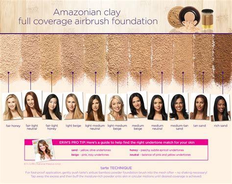 tarte foundation colors tarte amazonian clay coverage airbrush foundation s