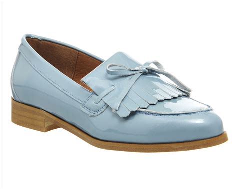 pale blue loafers office limelight fringe loafers pale blue patent leather