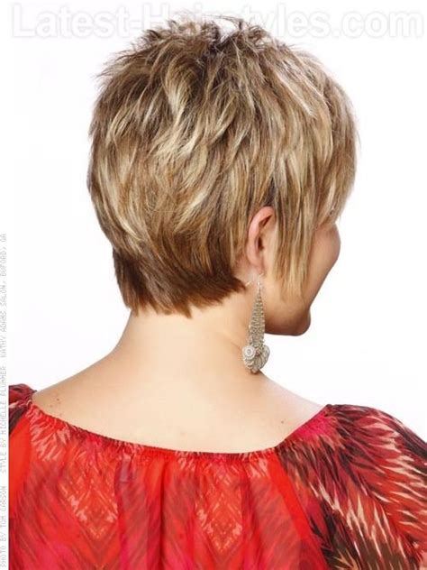 show back of short hairstyles when hair is d comb bangs forward and to the side so