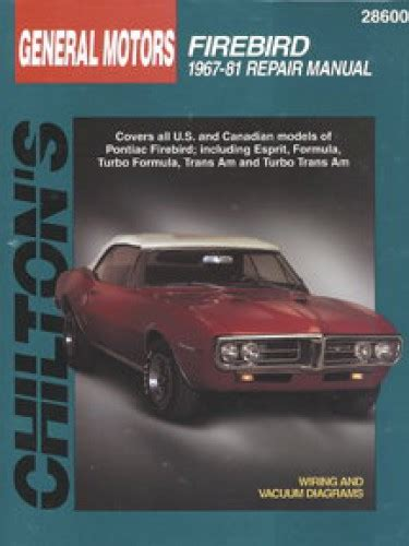 manual repair free 1967 pontiac firebird auto manual chilton pontiac firebird 1967 1981 repair manual