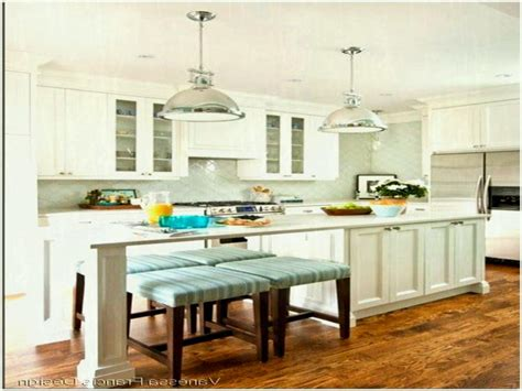 narrow kitchen island with seating and stunning for