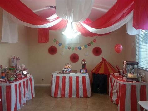 carnival birthday party big top ceiling decor for inside