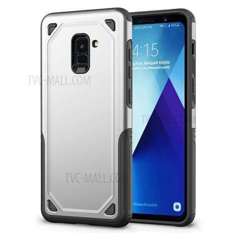 Casing Samsung A8 plastic tpu hybrid rugged armor protection for samsung galaxy a8 2018 silver tvc mall