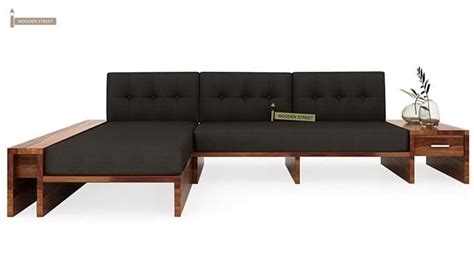 l shaped wooden sofa cortez l shaped wooden sofa teak finish