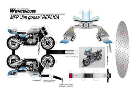 Motorcycle Papercraft - 1000 images about papercraft on