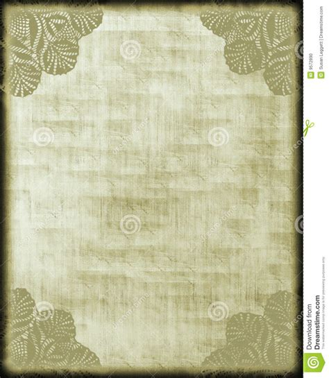 How To Make Lace Paper - antique style paper lace corners stock photo image 9572890