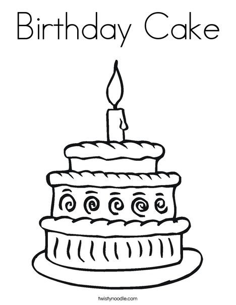 layer cake coloring pages birthday cake coloring page twisty noodle
