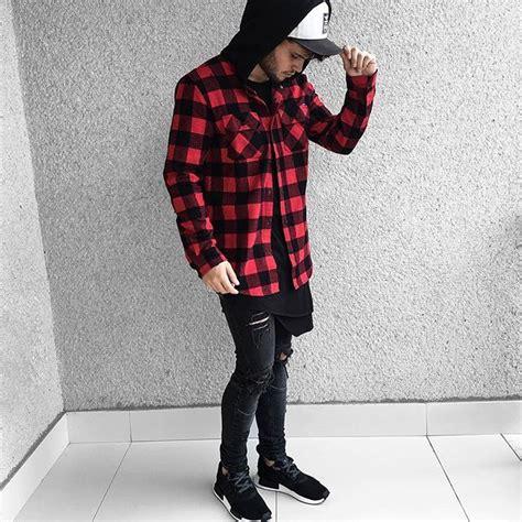 Korean Yarn Blouse Blackred 23404 all black streetwear